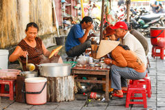 Street food cafe in Hoi An, Vietnam Royalty Free Stock Photos