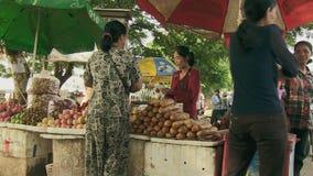 Street food , cambodia stock video footage