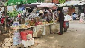 Street food , cambodia stock video