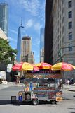 Street food cart in Manhattan, NYC Royalty Free Stock Photos