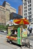 Street food cart in Manhattan, NYC Stock Photos