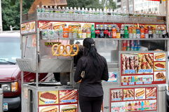 Street Food cart in New York City Stock Images