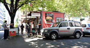 Street food cart in Portland, Oregon Stock Photo