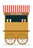 Street food cart vector illustration. Hot drinks. Isolated illustration on white background Royalty Free Stock Photography