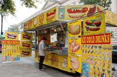 Street Food Cart in Washington DC Stock Photo