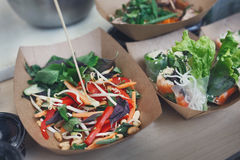 Street food, catering, restaurant delivery, market Stock Photography