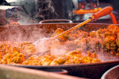 Street Food Chicken Curry. Indian Take Away Food Royalty Free Stock Photos