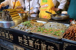 Street food in China royalty free stock photo
