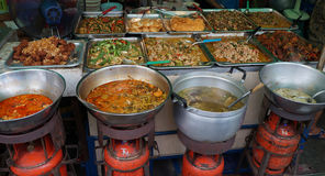 Street food. Cooked in Bangkok Thailand Royalty Free Stock Images