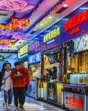 Street Food Court Market, Shanghai, China stock images