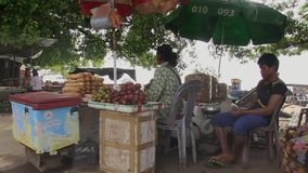 Street food,  customer, cambodia, southeast asia Royalty Free Stock Images