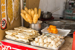 Street food at Danshui shopping area Royalty Free Stock Photography