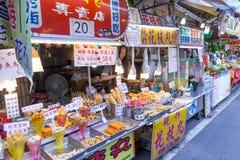 Street food at Danshui shopping area Royalty Free Stock Photos