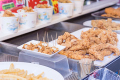 Street food at Danshui shopping area Royalty Free Stock Images