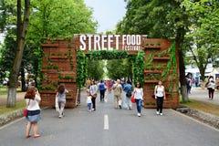 Street Food Festival gate Stock Images
