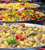 Street food at the festival in Hungary Stock Image