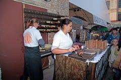 Street Food Festival in Kiev, Ukraine. Stock Image