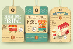 Street Food Festival Price Tags Royalty Free Stock Photography