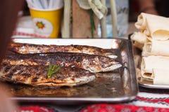 Street food. Fried fish Royalty Free Stock Photos