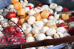 Street food,fried meat ball. Pic of Street food,fried meat ball Royalty Free Stock Photography