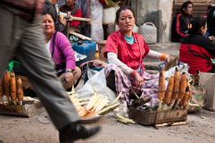 Street food in the hills Royalty Free Stock Photos