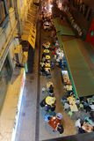 Street food in Hong Kong. Hong Kong people enjoying a late night supper in the back alley royalty free stock photos