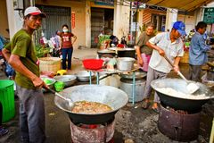 Street food of Kampot, Cambodia Stock Image