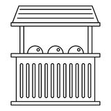 Street food kiosk icon, outline style Stock Images