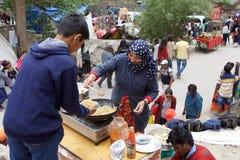 Street food in Ladakh, India Stock Image