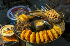 Street food in Lijiang, Yunnan, China Royalty Free Stock Photos