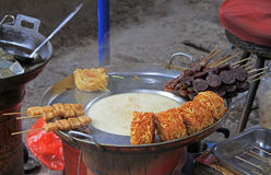 Street food in Lijiang, Yunnan Royalty Free Stock Image