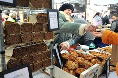 Street food in London at Broadway Market Royalty Free Stock Photography