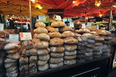 Street food in London east at Borough Market Stock Photo