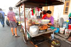 Street food in Malaysia Penang Royalty Free Stock Photography