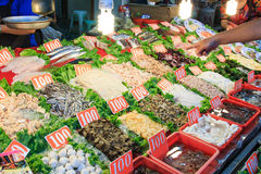 Street food market in Cijin Island - Kaohsiung, Taiwan Royalty Free Stock Photo