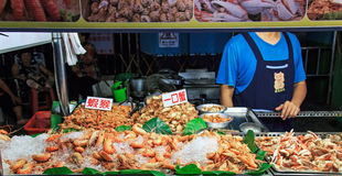 Street food market in Kenting night market Royalty Free Stock Images