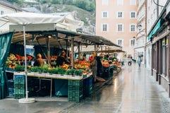 Street food market stock photos