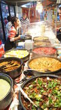Street food market selling Malaysian curry Royalty Free Stock Images