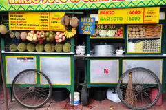 Street food mobile carts royalty free stock photo