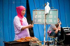 Street food at Muslim Street in Xian Stock Photography