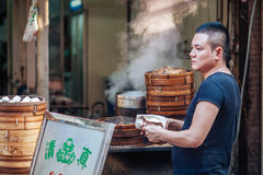 Street food at Muslim Street in Xian, China Stock Images