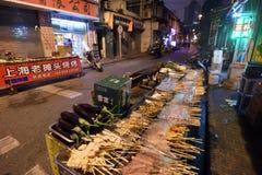 Street food at Nanjing Road, China Stock Photo