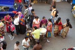 Street food near the New Market, Kolkata, India Stock Photography
