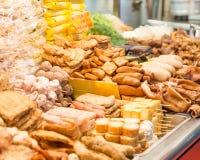 Street food at a night market in Taipei Stock Photo