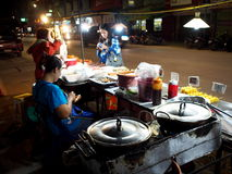 Street food night market in THAILAND Royalty Free Stock Image
