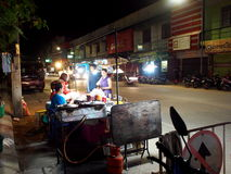 Street food night market in THAILAND Stock Photo