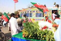Street Food outside PTI Rally in Karachi, Pakistan Stock Photo
