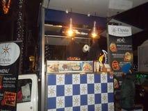 Street food pickup truck menu` Stock Photos