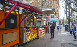 Street food in Portland - PORTLAND - OREGON - APRIL 16, 2017. Street food in Portland - PORTLAND - OREGON Royalty Free Stock Photo