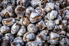 Street food in Porto. Edible chestnuts - popular street food in Porto, Portugal stock images